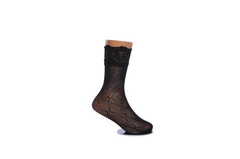 Носки детские капроновые чёрные в сетку