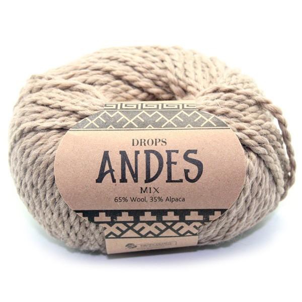 Пряжа Drops Andes 0619 бежевый меланж