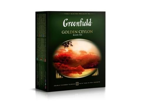 Чай черный Гринфилд Golden Ceylon в пакетиках (100 шт)