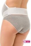 Бандаж для беременных 00128 серый меланж/белый