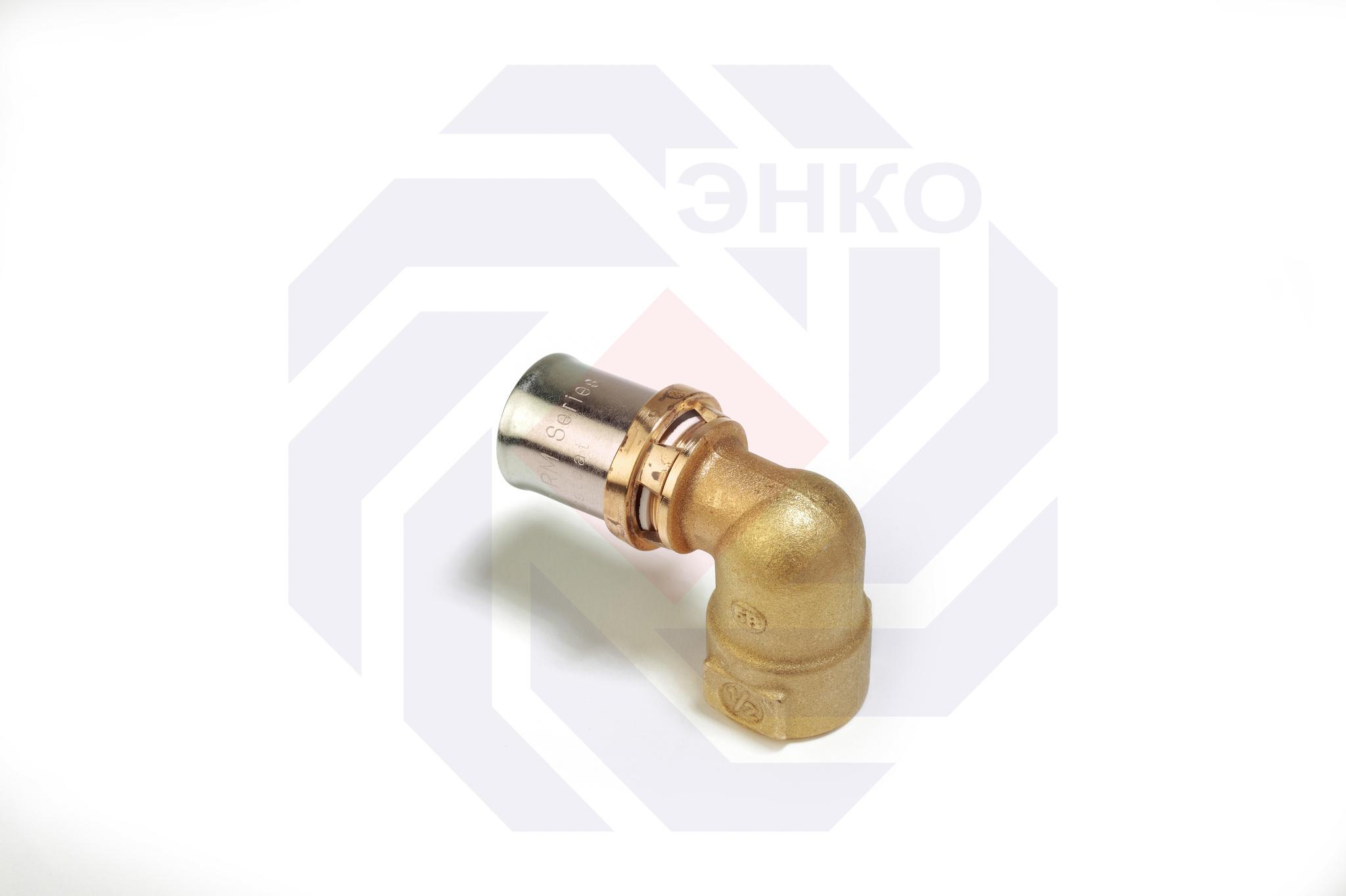 Пресс-фитинг отвод 90° ВР GIACOMINI RM 16⨯¾