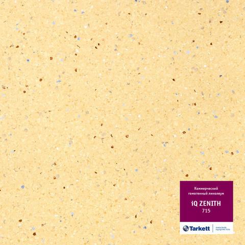 Линолеум коммерческий Tarkett IQ Zenith 715 Желтый 2.0м