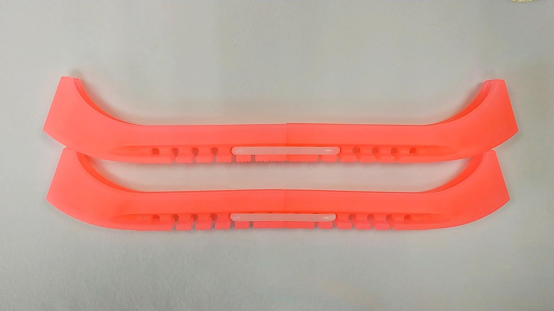 Чехлы на лезвия двойные с силиконовым соединителем (розовый неон)