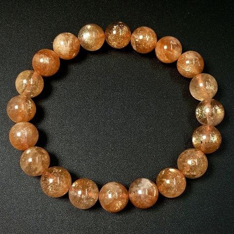Бусины солнечный камень АА шар гладкий 10 мм нить 20 бусин
