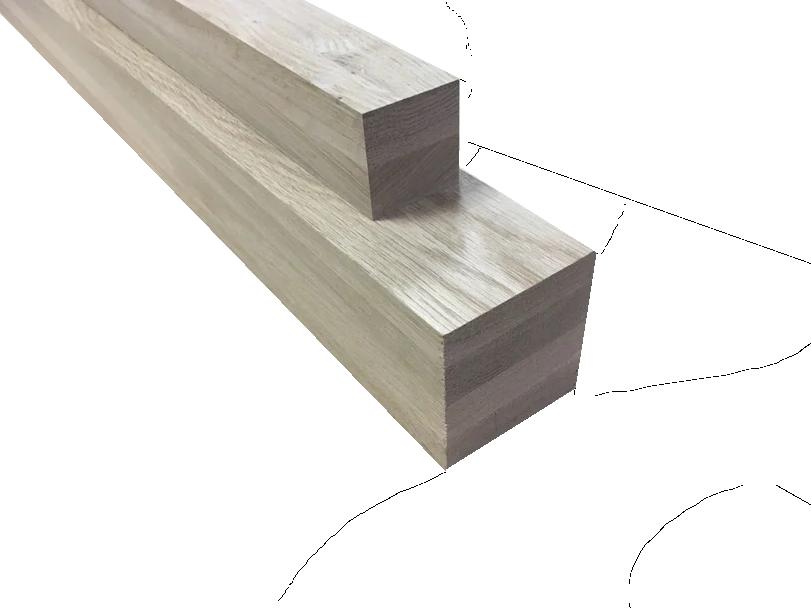 Мебельный брус - дуб цельноламельный 80мм х 80мм х 1200мм