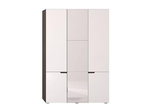 Шкаф трехстворчатый Анталия Горизонт венге, белый софт