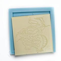 0783 Молд силиконовый Плитка 10 х10 см. Гранат.