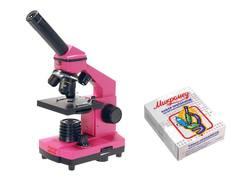 Школьный микроскоп Микромед Эврика + микропрепараты биология