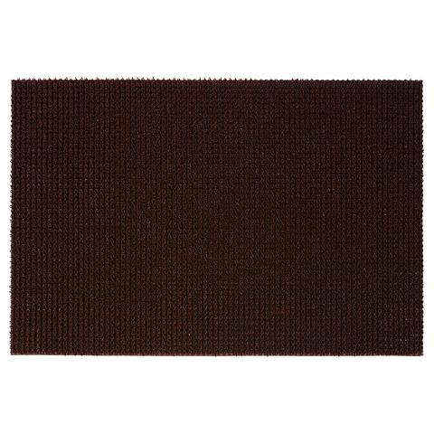 Коврик ТРАВКА темно-коричневый, на противоскользящей основе, 45*60 см