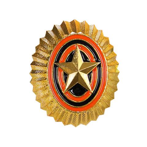 Кокарда РА со звездой золотая