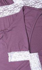 Евромама. Комплект халат и сорочка с кружевом из вискозы, лиловый вид 10