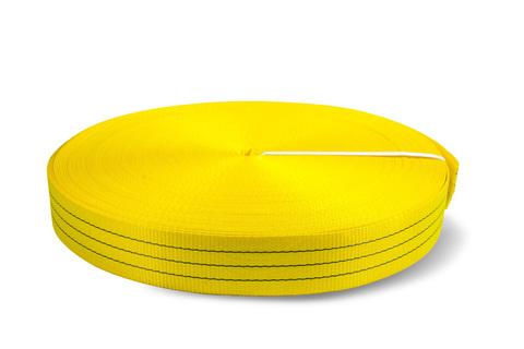Лента текстильная TOR 6:1 75 мм 10500 кг (желтый), 100м