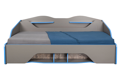 Кровать Индиго 11.03 Моби 90х200 темно-серый, граффити