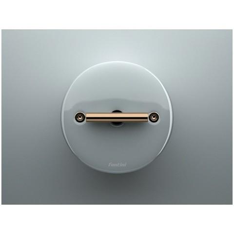 Выключатель/переключатель поворотный на 2 направления(проходной, схема 6) 10А 250В~. Цвет Белый. Fontini DO(Фонтини До). 33308172