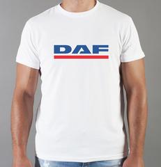 Футболка с принтом ДАФ (DAF) белая 003