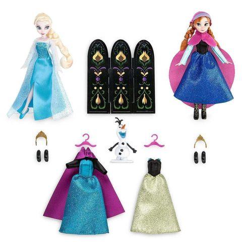 Набор кукол Эльза и Анна Холодное сердце, Модный гардероб в  Магии кукол