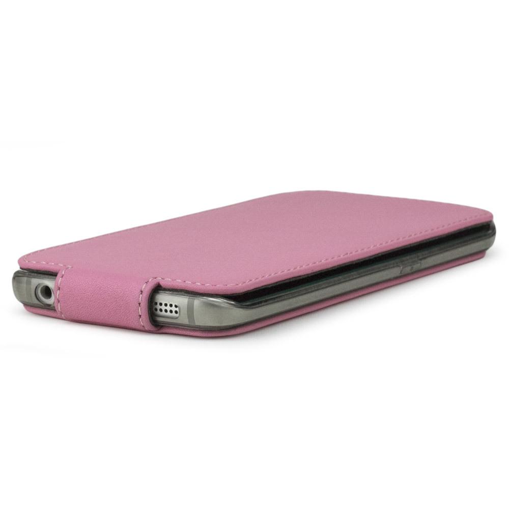 Чехол для Samsung Galaxy S6 edge из натуральной кожи теленка, розового цвета