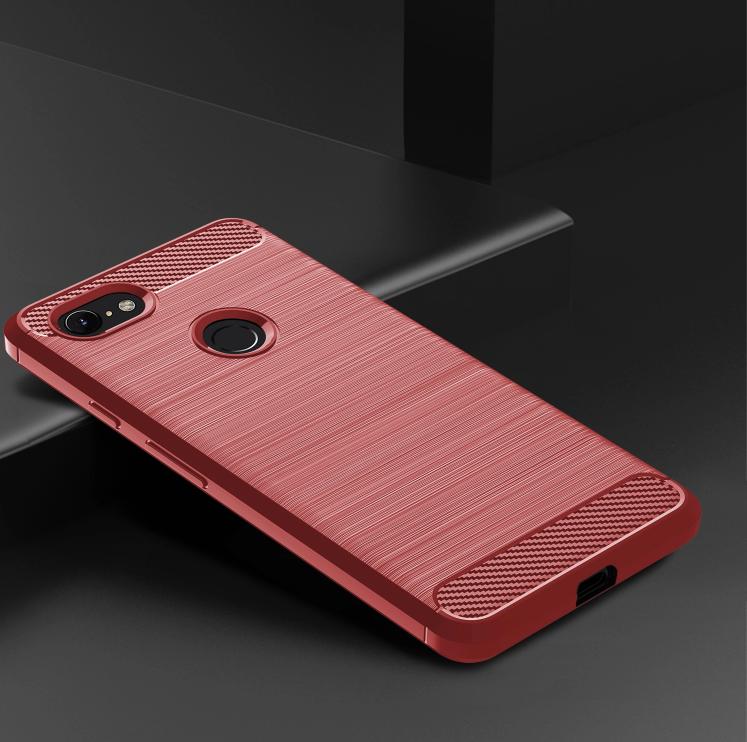 Чехол Google Pixel 3 цвет Red (красный), серия Carbon, Caseport
