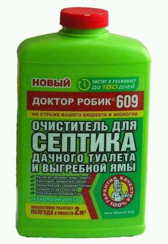 Биопрепарат Доктор Робик 798мл №609 для септика и дачного туалета