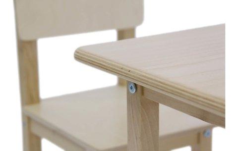 Комплект детской мебели Polini kids Simple 105 S, натуральный
