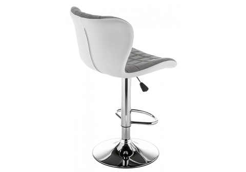 Барный стул Brend серый / белый 47*47*88 Хромированный металл /Серый
