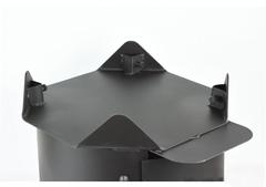 Печь с дымоходом для казана 10л усиленная
