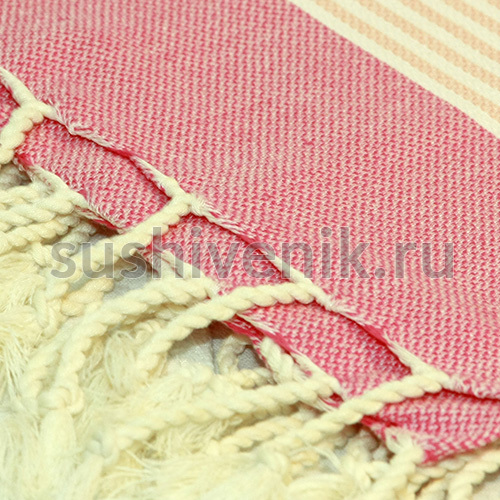 Пештемаль полосатый (розовый)