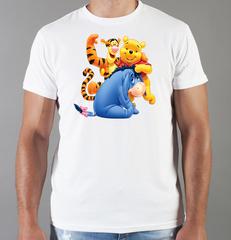 Футболка с принтом мультфильма Винни-Пух (Winnie the Pooh) белая 0012