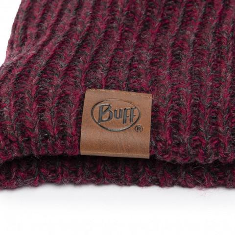 Шапка вязаная с флисом Buff Hat Knitted Polar Lyne Maroon фото 2