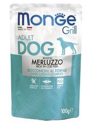 Паучи для собак, Monge Dog Grill Pouch, с треской