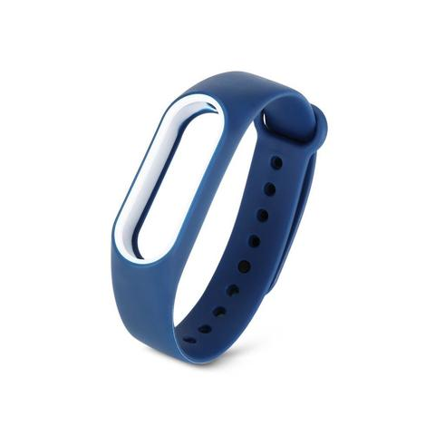 Силиконовый ремешок для Xiaomi Mi Band 2 (синий с белым)