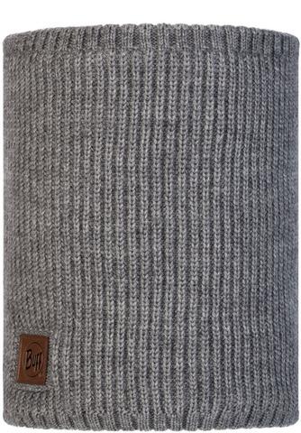 Вязаный шарф-труба с флисом Buff Neckwarmer Knitted Polar Rutger Melange Grey фото 1