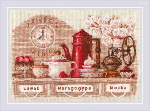 Набор для вышивания крестом «Coffee Time» (1874)