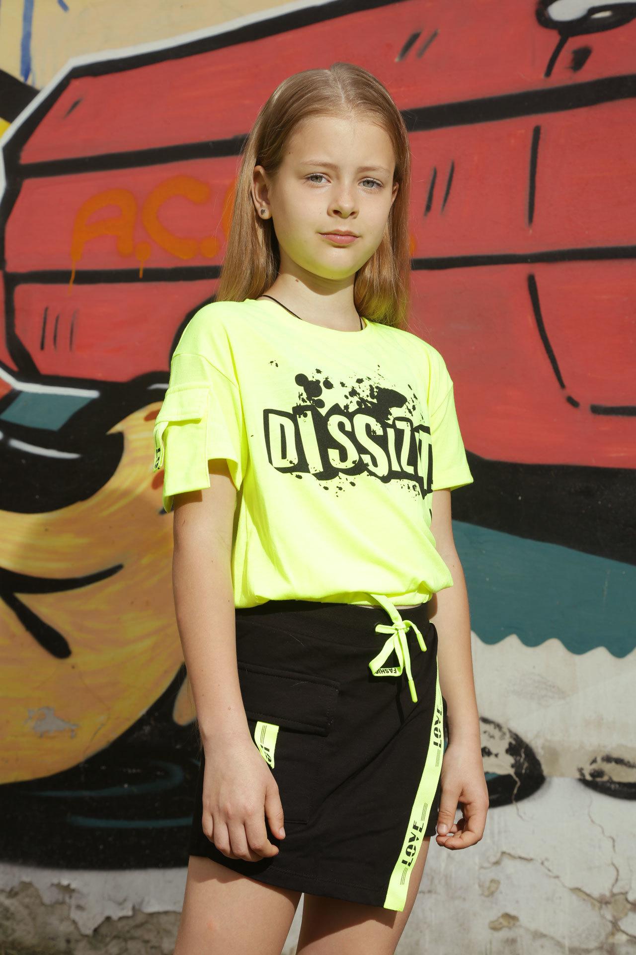 Костюм для девочки Dizite топ+юбка BlueLand Турция, 2556 (116-152)