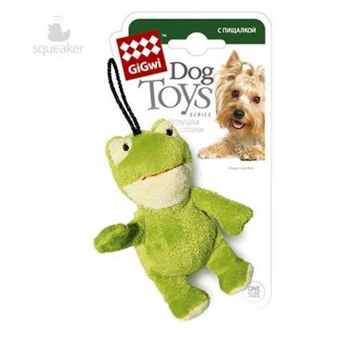 GiGwi Игрушка для собак Лягушка с пищалкой