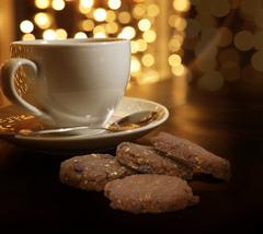 Овсяное печенье с кэробом и клюквой,