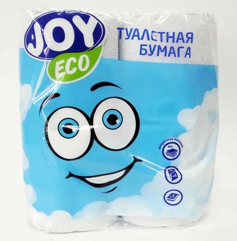 Туалетная бумага JOY eco 2сл. 4рул/уп бел. 1/12