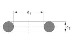 Кольцо круглого сечения O-Ring   12 X 1 MM   70 NBR NB702719 Black