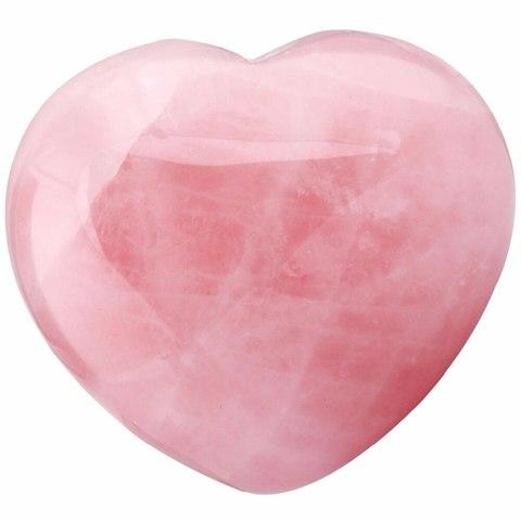 Сердце розовый кварц
