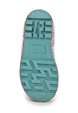 Резиновые сапоги Винкс (Winx) утепленные на шнурках для девочек, цвет желтый розовый. Изображение 5 из 8.