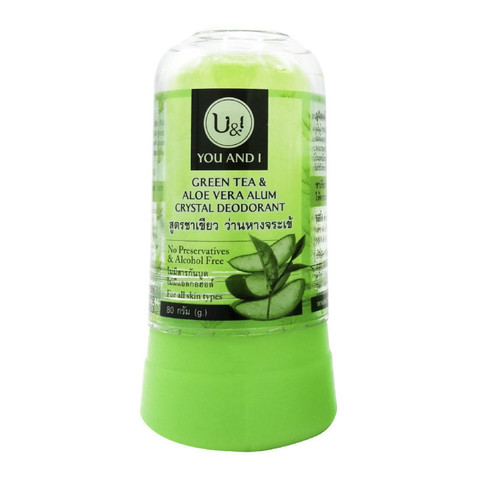 Дезодорант-кристалл с Алоэ Вера и зеленым чаем Rasyan 80г Тайланд