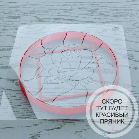 Трафарет Витражная роза