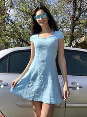 Фіона. Легке літнє молодіжне плаття. Блакитний