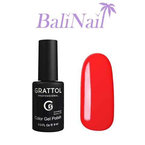 Grattol Color Gel Polish Bright Red - гель-лак 030, 9 мл