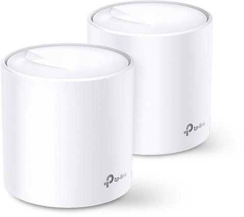 Бесшовный Mesh роутер TP-Link Deco X60(2-Pack) AX3000 10/100/1000BASE-TX белый