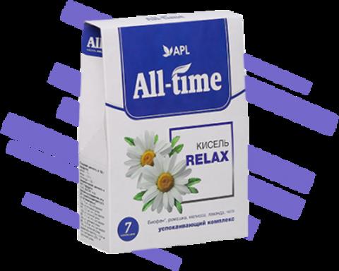 APL. Кисель  All-Time Relax с успокаивающим комплексом и Биофеном 7 пакетиков по 20 граммов