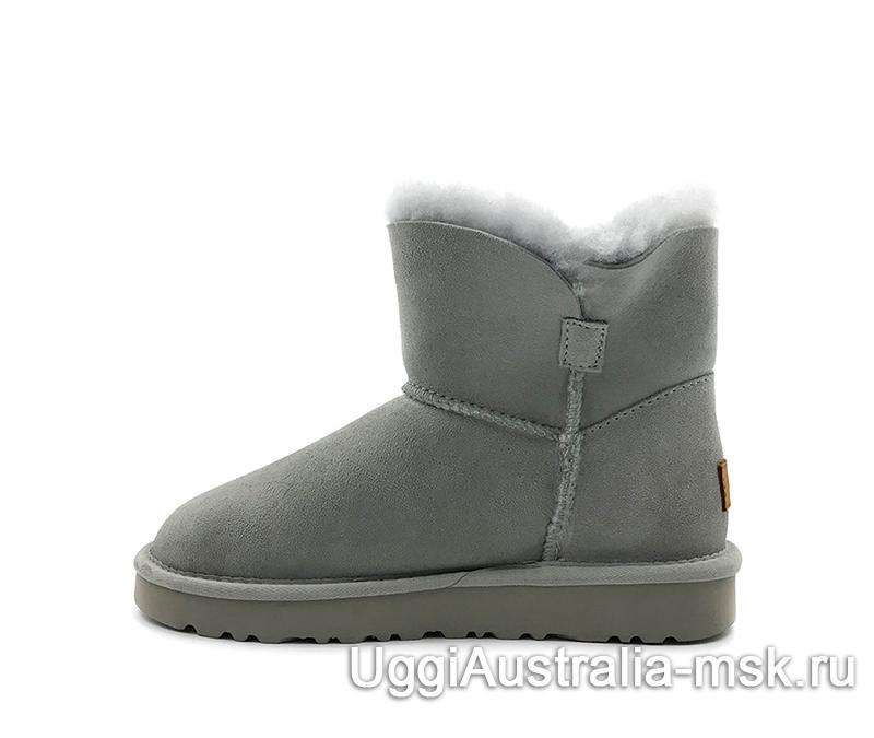 UGG Women's Classic Mini Cuff Boot Light Gray