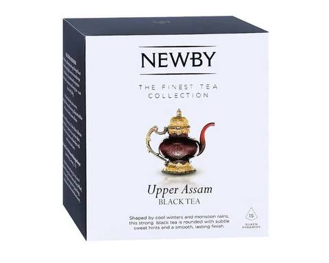 Чай черный в пирамидках Newby Upper assam, 15 пак/уп