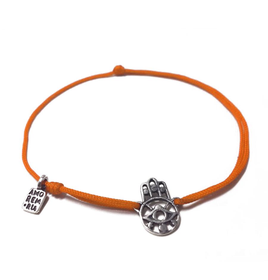 Hamsa bracelet, sterling silver