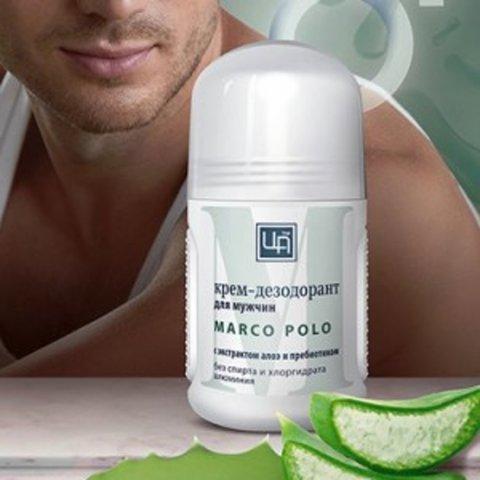 Крем-дезодорант для мужчин «Marco Polo» с экстрактом алоэ™Царство Ароматов